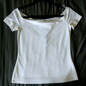 NWT Dynamite White Off-The-Shoulder Top